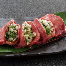 Beef tongue with green onion