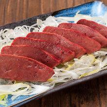 Slow-cooked beef liver sashimi