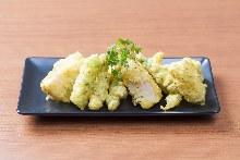 季節野菜とカマンベールのフリット(カレー風味)