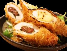 Chicken tenderloin and pickled plum rolls