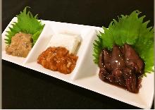 Assorted delicacies, 3 kinds
