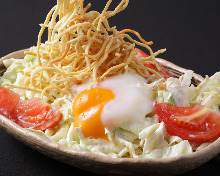 Slow-poached egg salad