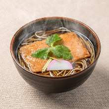 Buckwheat noodles with sweet fried tofu