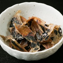 Naturally dried firefly squid