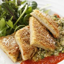 Herb-crusted grilled whitefish