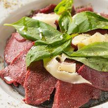 Horse meat carpaccio