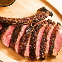 Beef tomahawk steak