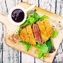 Horse meat tenderloin cutlet
