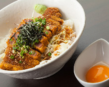 Beef cutlet rice bowl