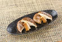 Seared shiitake mushrooms