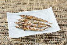 Grilled shishamo smelt with roe dried overnight