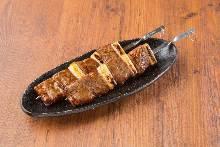 Grilled Wagyu beef kalbi skewers
