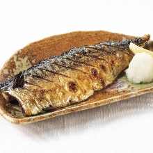 Salted and grilled mackerel
