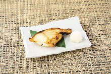 Grilled salted cod