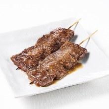 Beef skirt steak skewer