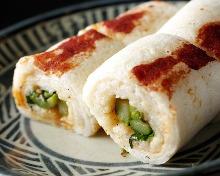 Yam sushi rolls