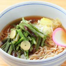 Wild vegetable buckwheat noodles