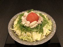 Tomato and offal hotpot