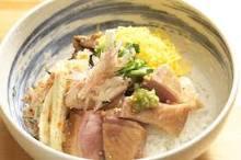 メインディッシュ「地鶏の茶漬け」