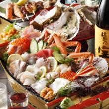 ● オススメ海鮮刺身料理 五点盛(税込)