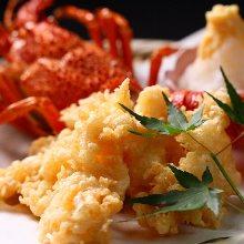 Spiny lobster tempura