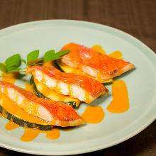 Alfonsino fish sashimi
