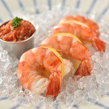 Soft-shell shrimp cocktail