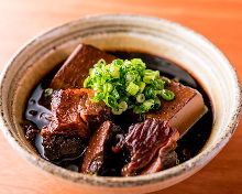 Simmered meat and tofu