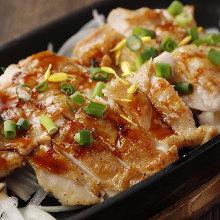 Locally raised chicken teppanyaki