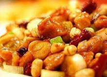 Stir-fried chicken and peanuts