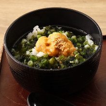 Uni chazuke (Sea urchin and rice with tea)