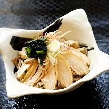 Nikusoba (meat on soba noodles)