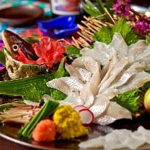Anago (conger eel) sashimi