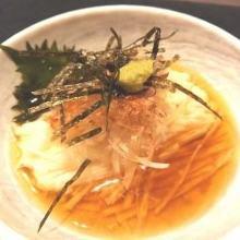 Finely sliced Japanese yam