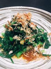 Ohitashi (boiled vegetables)