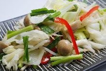 Stir-fried vegetables with butter