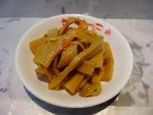 Pickled bamboo shoots
