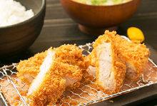 Black pork loin and fillet cutlet set meal