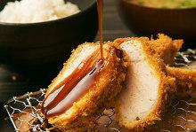 Kurobuta pork sirloin cutlet set meal