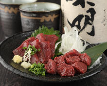 Assorted edible horse meat, 2 kinds