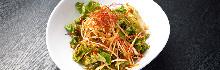 Spicy green onion salad