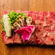 Beef tongue shabu-shabu