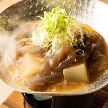 Simmered beef tendon and daikon radish