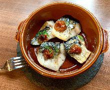 Lightly-dried mackerel