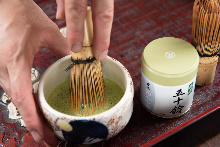 Matcha or Japanese green tea