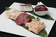 Assorted beef offal, 5 kinds