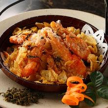 Fragrant deep-fried shrimp