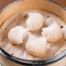 Steamed shrimp gyoza