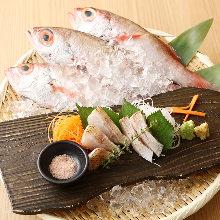 Rosy seabass (sashimi)