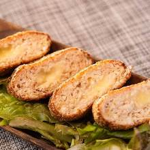 Minced tofu and cheese cutlet